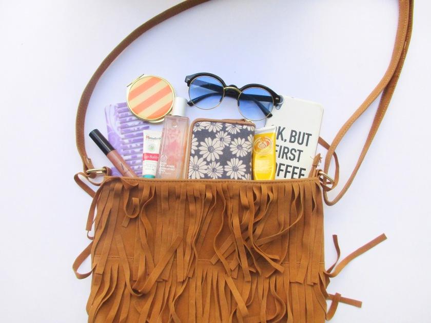 What's In My Purse? Fringe cut purse